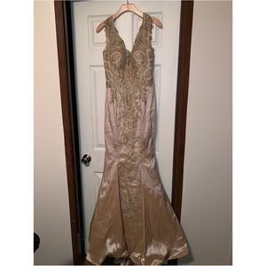 Gold mermaid dress with tail